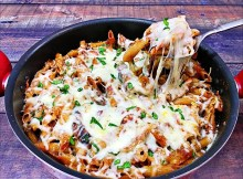Chicken Parmesan Pasta Skillet - Italian Pasta Recipe (VIDEO)