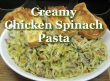 Easy Italian Creamy Chicken & Spinach Pasta ~ Easy Chicken Recipe (VIDEO)
