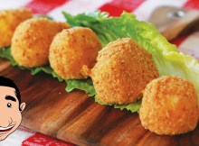 Fried Mozzarella - Italian Fried Cheese Balls Recipe (VIDEO)