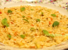 Italian Vegetable Risotto Recipe - Video Culinary (VIDEO)