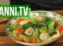 Italian Wedding Soup - Chicken, Escarole and Veal Meatballs, Italian Recipe (VIDEO)