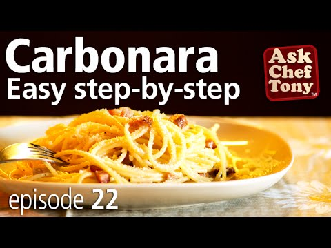 Original Spaghetti Carbonara Recipe from Rome, How to Make the Real Authentic Italian Sauce (VIDEO)