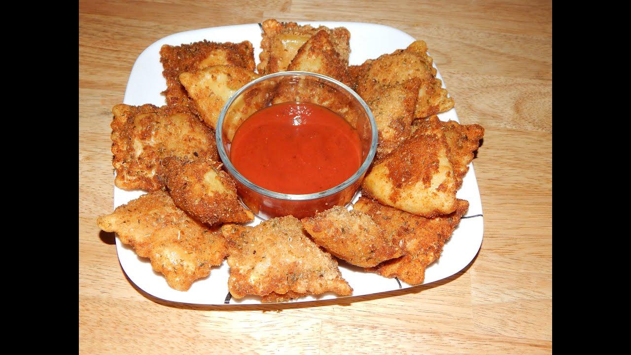 How To Make Fried Ravioli – Toasted Ravioli Recipe (VIDEO)