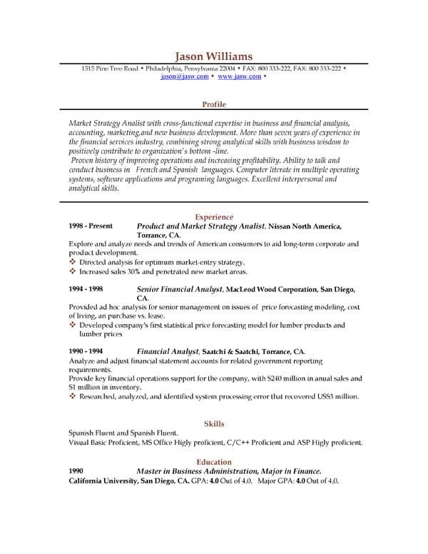Sample Resume  85 FREE Sample Resumes by EasyJob  Sample