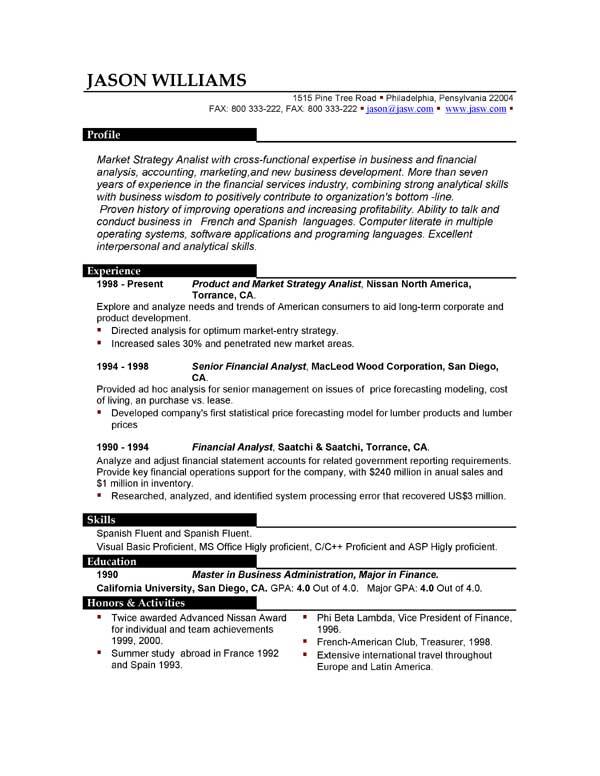 Sample Resume Format Word Microsoft Word Resume Template – 99