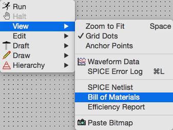 LTspice入門:Mac版でのBOM(部品表)の出力 | easy labo