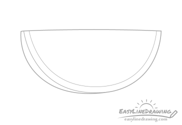 watermelon slice drawing draw step rind line pencil