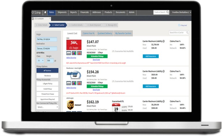 Freight Shipping and LTL shipping FMS Software