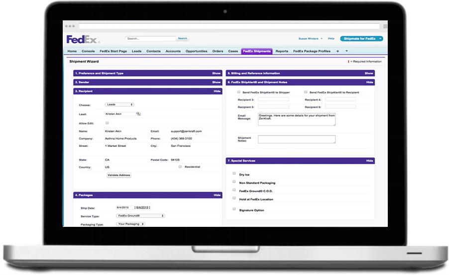 logistics management parcel shipping management software