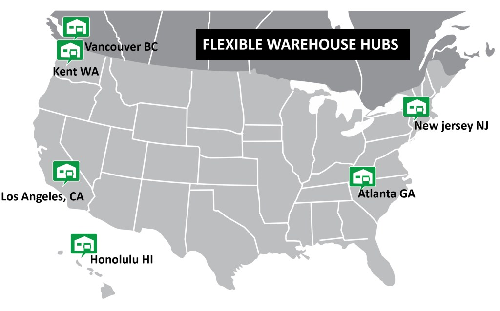 outdoor retailer 3PL warehouse and fulfillment locations