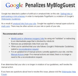 MyBlogGuest Got Penalized By Google