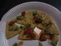 Nachos with Salsa Salad