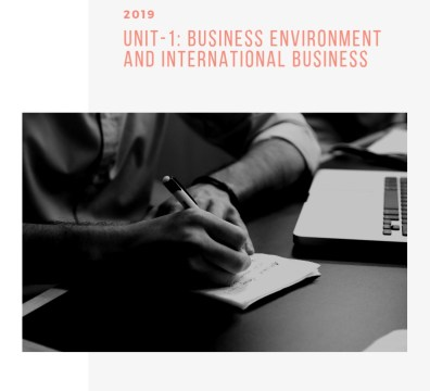 Business Environment and International business notes for UGC NET Commerce ebook
