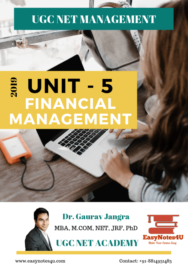 Financial Management for UGC NET Management, MBA, BBA ebook