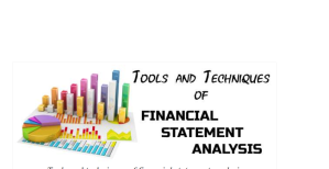 Financial Analysis: Types and Techniques/Tools