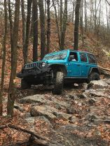 Trail 2, at AOAA western reserve being conquered by Evolution Jeep Alliance member Kim Garber in her Jeep Serenity.