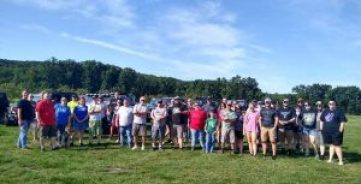 """Evolution Jeep Alliance group photo at the Wheeling Event """"Rockin for Rylee"""". This event was held at Anthracite Outdoor Adventure Area (Coal Township, PA)."""