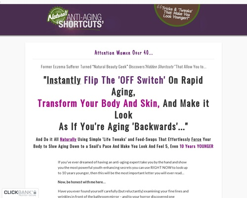 Natural Anti-aging Shortcuts - New High-converting Anti-aging Offer! 13