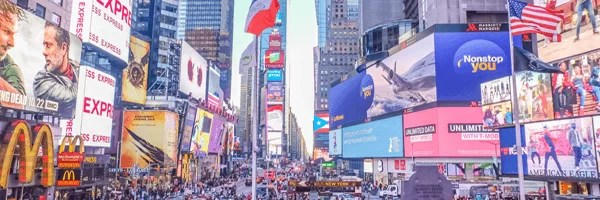 Advertisments in Time Square