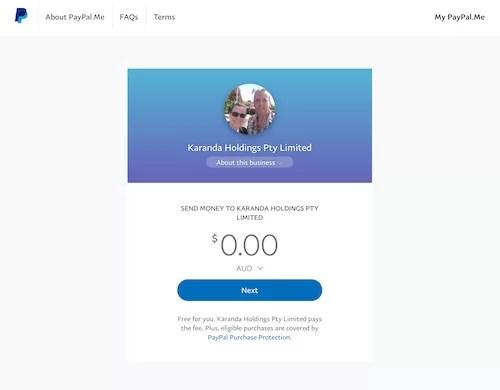 EasyOnlineBizSolutions PayPal Me Link