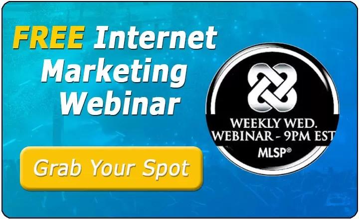 MLSP FREE Internet Marketing Webinar