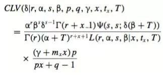 Complex Customer Lifetime Value Equation