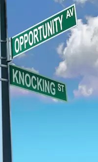 opportunity knocking street signs