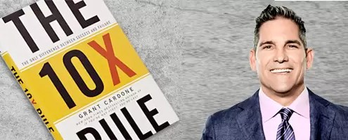 Grant Cardone's The 10x Rule- The Only Difference Between Success and Failure book
