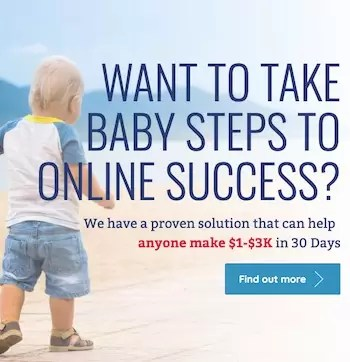 want to take baby steps to online success sq