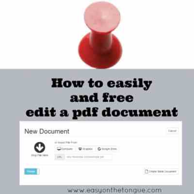 How to easily open and edit a pdf document