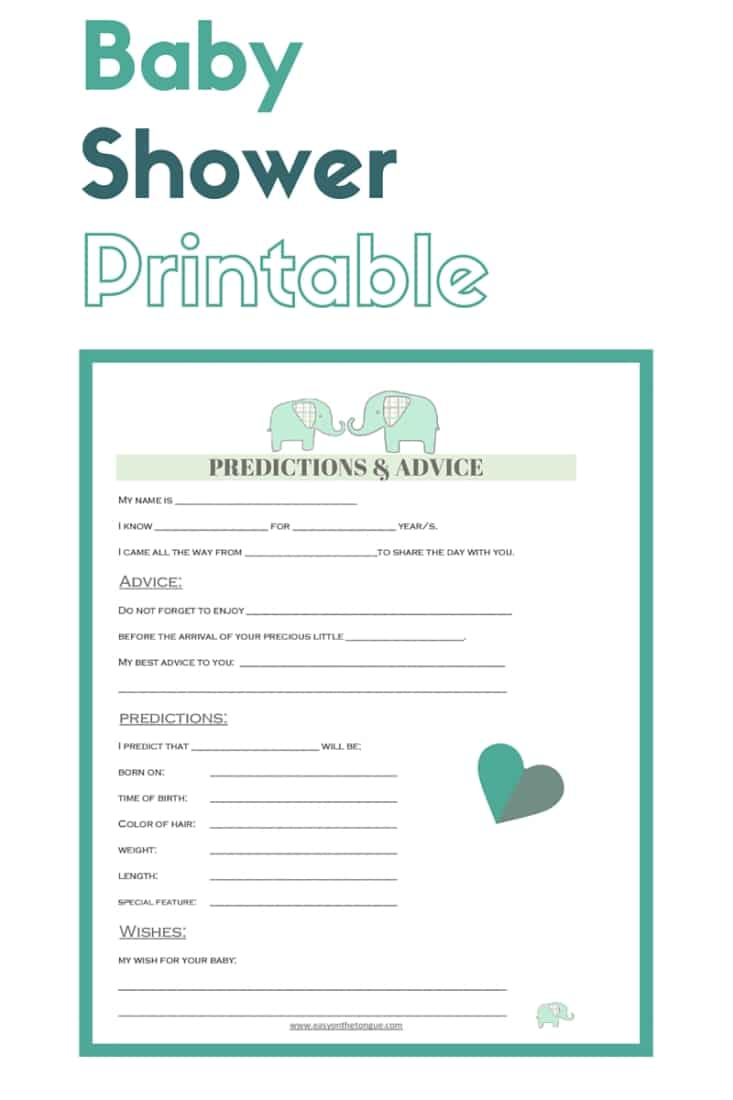 Join our mint baby shower printable Join our 'Mint' Baby Shower for special inspiration