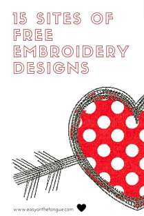 15 Site of Free Embroidery Designs Pinterest The 10 Most Adorable Free Valentine's Day Embroidery Designs