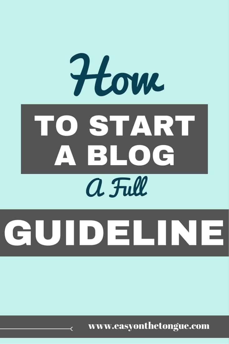 How to start a blog A full guideline Pinterest How to start a blog – The Free Map Outline