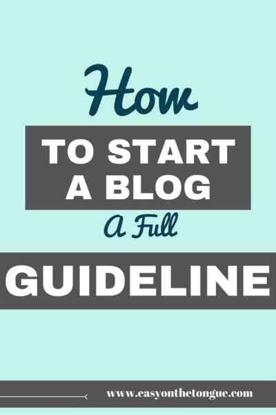 How to start a blog - A free outline. If you want to start a blog and need a clear outline of what should be included, this post is for you. Read more at www.easyonthetongue,com