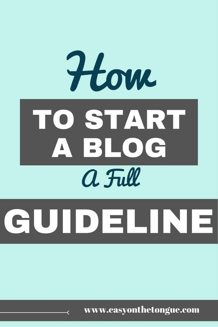 How to start a blog A full guideline Pinterest How to start a blog – The Free Map Outline