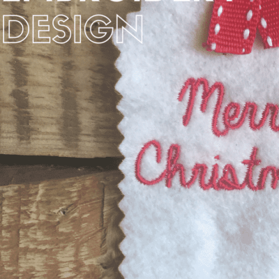 Our gift to you – free 'Merry Christmas' embroidery download