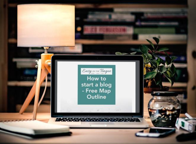 How to start a blog mockup How to start a blog – The Free Map Outline