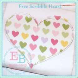 scribble heart pic 15 Sites that offer Free Embroidery Designs