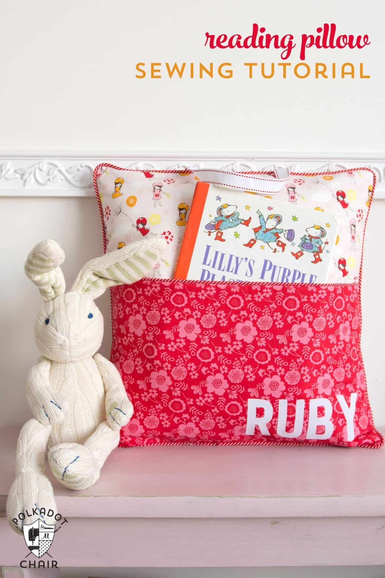 Polkadotchair free sewing pattern reading pillow 1 How to make Reading Pillows?  Inspiration, Tips & Links