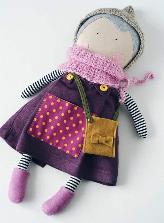 Fabric doll made by Nata patterns on Etsy Did you know handmade dolls are so popular?