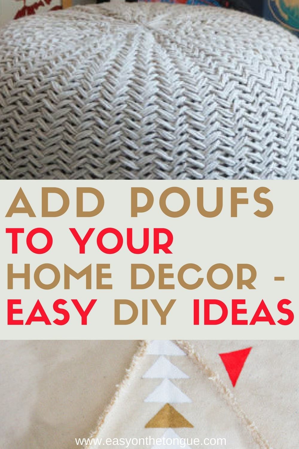 Pleasing Need Extra Seats In Your Home Make Any Of The Diy Poufs Pdpeps Interior Chair Design Pdpepsorg