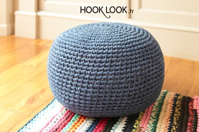 Need Extra Seats In Your Home Make Any Of The DIY Poufs Stunning T Shirt Yarn Pouf