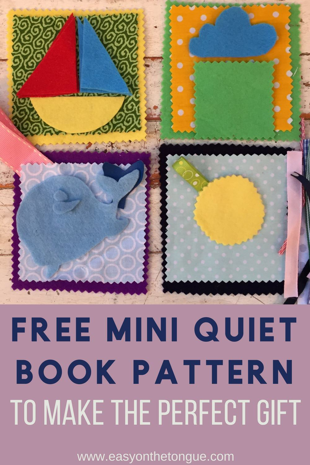 free mini quiet book pattern for you to make the perfect gift