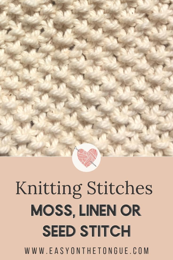 Knitting Stitches How To Knit Moss Stitch The Right Way