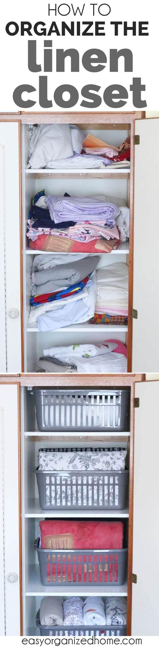 Linen Closet Organization How To Organize Your Linen