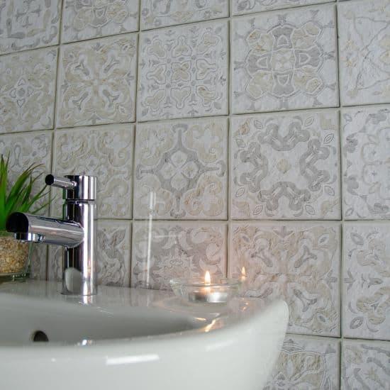 8mm antwerp grey tile effect wall panel