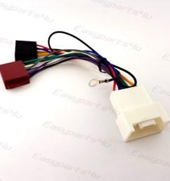mitsubishi lancer shogun outlander iso lead wiring harness radio mitsubishi outlander car stereo wiring harness 2007 onwards without [ 1500 x 1500 Pixel ]