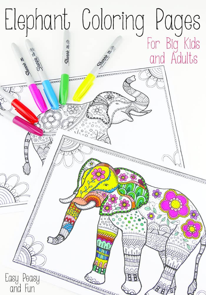 Coloring Pages For Adults Elephant : coloring, pages, adults, elephant, Elephant, Coloring, Pages, Adults, Peasy