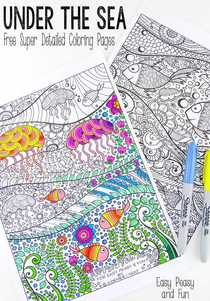Free Printable Ocean Coloring Pages For Adults : printable, ocean, coloring, pages, adults, Under, Coloring, Pages, Adults, Peasy