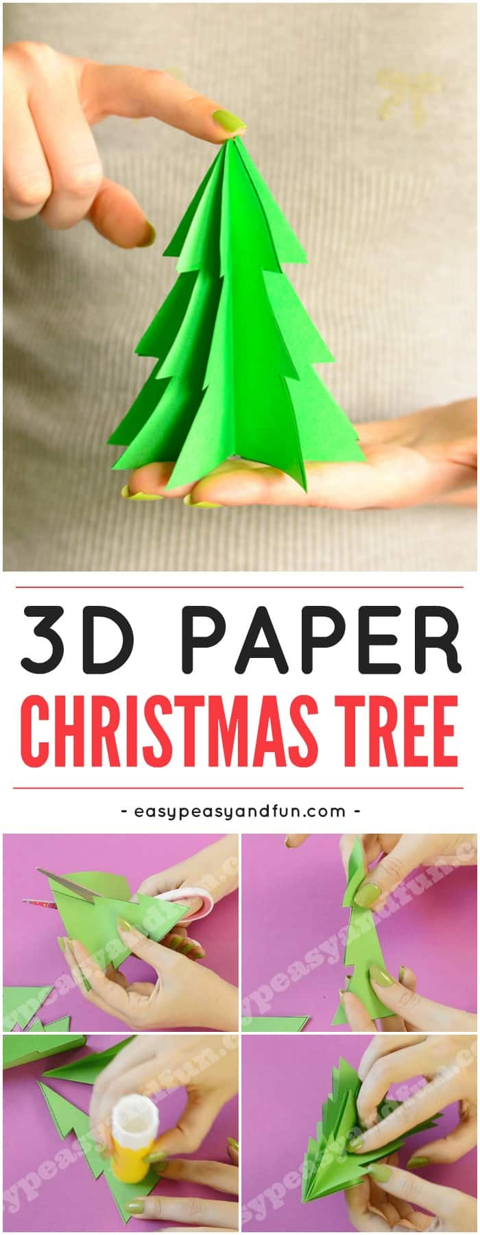 3d Paper Christmas Tree Template.3d Christmas Decoration Templates Free